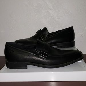 c6685cd8f7d Ecco SHOCK POINT BLACK LOAFERS SIZE 41